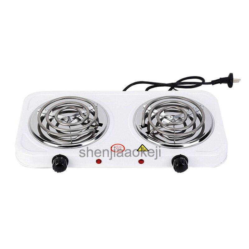 все цены на Household heating Stove Iron Burner Coffee Heater Double-head Non-radiative Electric Furnace kitchen Hotplates Cooker 1pc онлайн