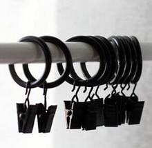 2015 promotionBlack metal curtain clip buckle belt ring --inner dimameter:25mm
