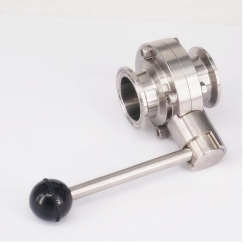 "1-1/2"" 38mm SS304 Stainless Steel Sanitary 1.5"" Tri Clamp Butterfly Valve Homebrew Beer Dairy Product"