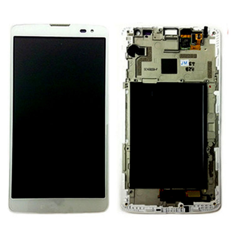 White Repair Part Replacement Front Lens Assembly+Frame LCD Screen Touch Digitizer For LG G Vista VS880 D631