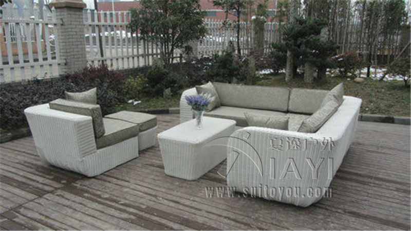 6-pcs PE rattan beach sofasPastoralism Home Indoor / Outdoor Rattan Sofa For Living Room classic outdoor l shaped sofa healthy pe rattan hot sale garden vine balcony rattan sofa whole set include table cushions sofa