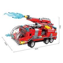 New hot Enlighten 8 In 1 set Deformation City Jet Fire Truck Childrens building blocks toy figures Bricks boy kids gifts