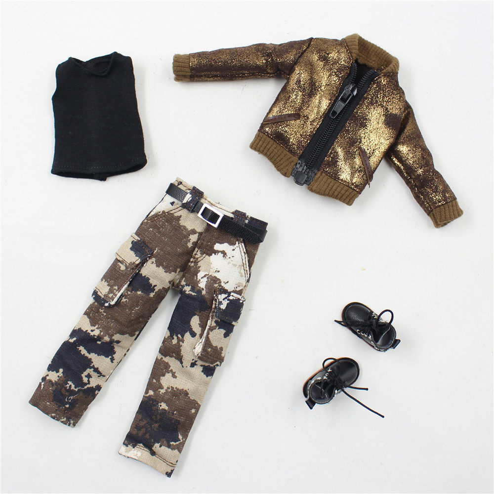 Neo Blythe Doll Military Uniform Pants Coat Outfit 10