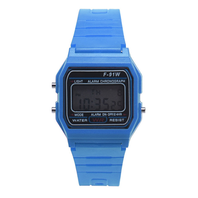 #5001Men Girl LED Digital Round Rubber Quartz Sport Fashion Waterproof Wrist Wat