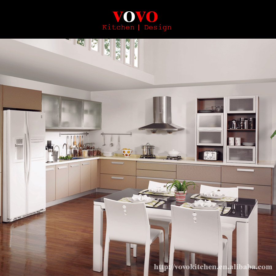 Factory Direct Sale Apartment Kitchen In Beige Color