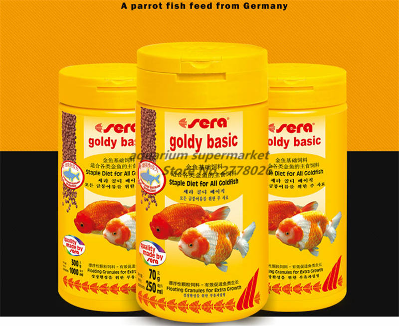 Sera Gold Fish Food Granules Mini Pellets Cold Water Food Aquarium Tropical Fish Feed Mini Nano Floating On Water