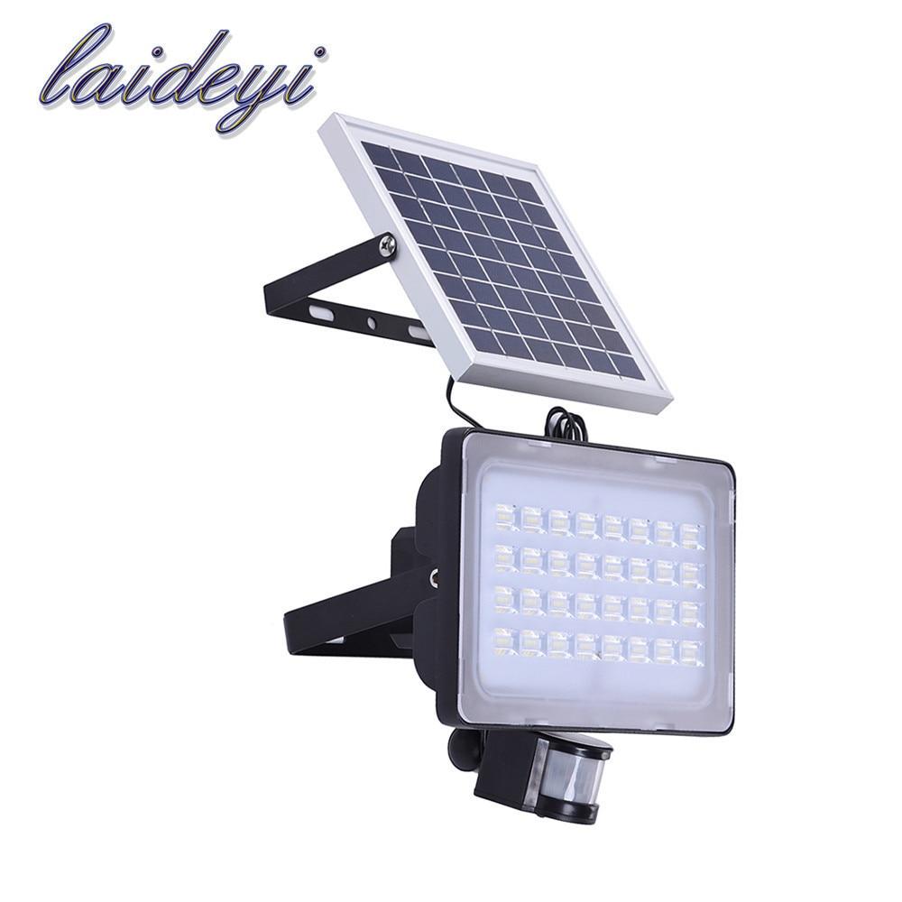 2PCS 50W solar powered lamps solar panels 12V 24V patio lights 6000lms motion sensor light outdoor wall lights security lights|Floodlights| |  - title=