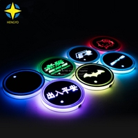 2017 Super Cool 7 Color All In One USB Cup Lights Car LED Coaster Cup Coaster