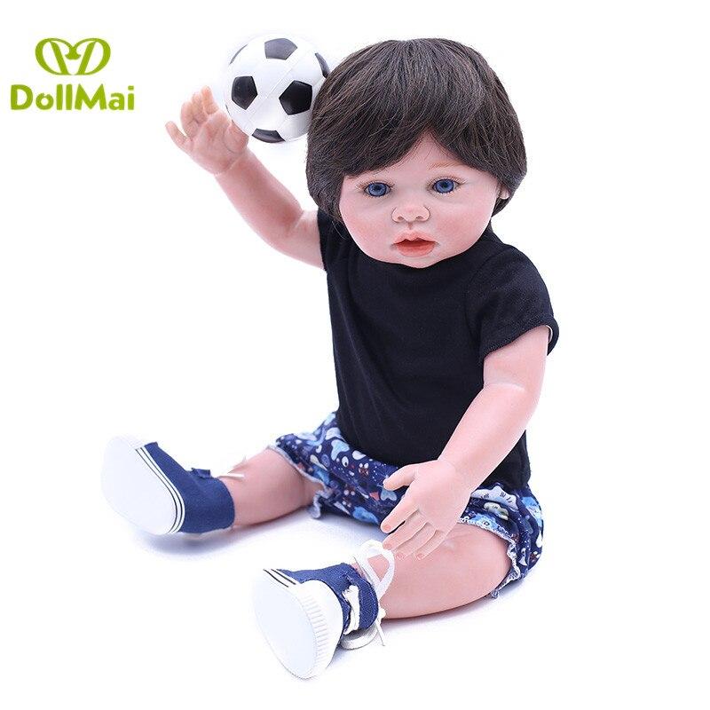 43 cm Silicone reborn bébé garçon poupées bebe réaliste reborn menino bonecas enfant cadeau poupées bain jouets
