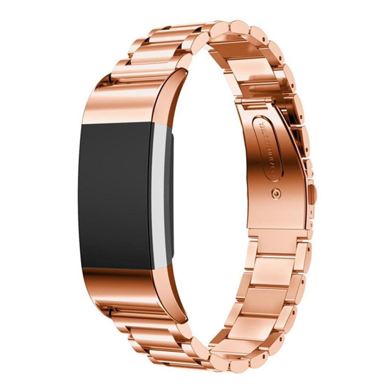 Edelstahl uhrenarmband-bügel Für Fitbit Ladung 2 armband Smart Watch Armbanduhr für Fitbit Charge2 mit Stecker