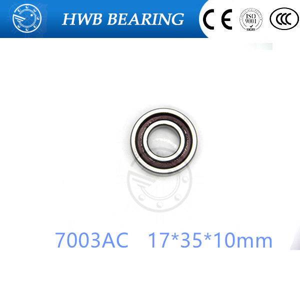 17mm Spindle Angular Contact Ball Bearings 7003ac SUPER PRECISION BEARING ABEC-5  7003AC 17x35x10mm 1pcs 71901 71901cd p4 7901 12x24x6 mochu thin walled miniature angular contact bearings speed spindle bearings cnc abec 7