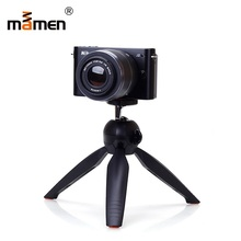 цена MAMEN Mini Desktop Phone Tripod Camera Stand+Clip For Phone Universal iPhone Huawei For Sony Nikon Canon Monopod Selfie Stick