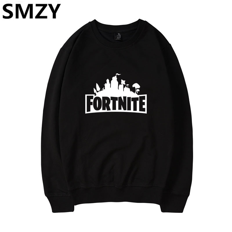 SMZY Fortnite Capless Hoodies Men Sweatshirts Casual Fashion Cartoon Characters Game Sweatshirts Men Funny FPS Game Fans Clother