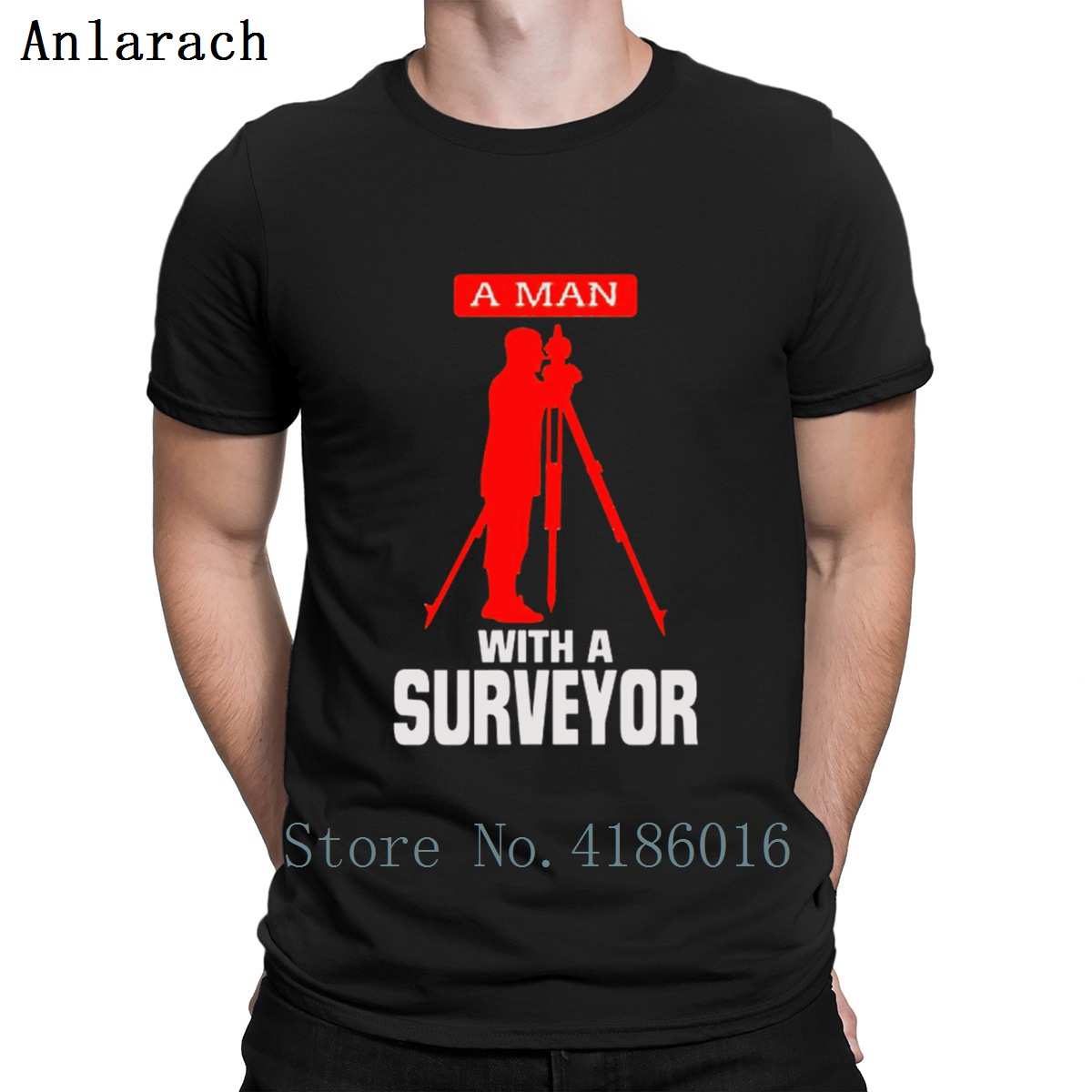 A Man With A Surveyor T Shirt Newest Fit Humorous Letter Printed Tshirt S-3xl Printing HipHop Tops Summer