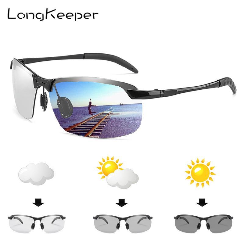 Special Price Rimless Photochromic Sunglasses Men Women Brand Design Polarized Sun Glasses UV400 Metal Frame Semi-rimless Gafas