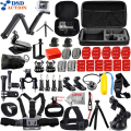 DSDACTION Gopro accessories set go pro hero 5 4 3 2 kit mount Three way selfie stick for SJ5000 Eken case xiaomi yi tripod 13J
