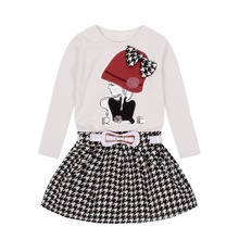 Girls Dresses 4 6 8 10 Years Kids Long Sleeve Plaid Dress Girl Fall Clothes Cotton Cartoon Princess Dress Spring Infant Vestidos princess lace dresses for girls long sleeve ruffles dresses infant vestidos children clothes 4 6 8 10 12 years kids formal dress
