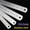 Металлическая прямая Линейка из нержавеющей стали для шитья ног  15-30 см  прецизионный двусторонний измерительный инструмент