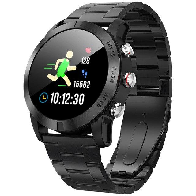 Bracelet homme Smartwatch IP68 étanche Sport de plein air fin Bracelet boussole chronomètre caméra contrôle santé Bracelet pour IOS Android