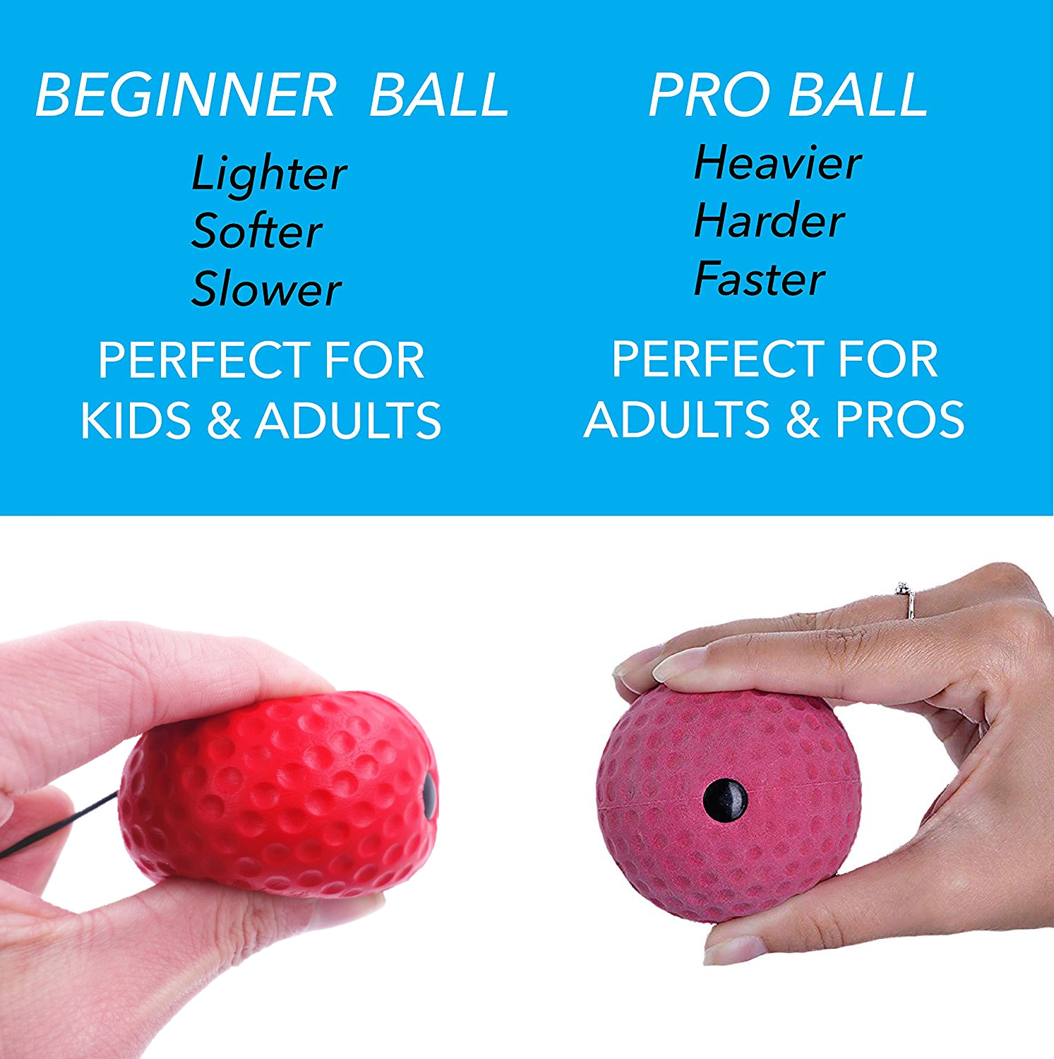 Boxing Reflex Ball Set 3 Difficulty Level Boxing Balls with Adjustable Headband for Punching Speed Reaction Agility Training 4