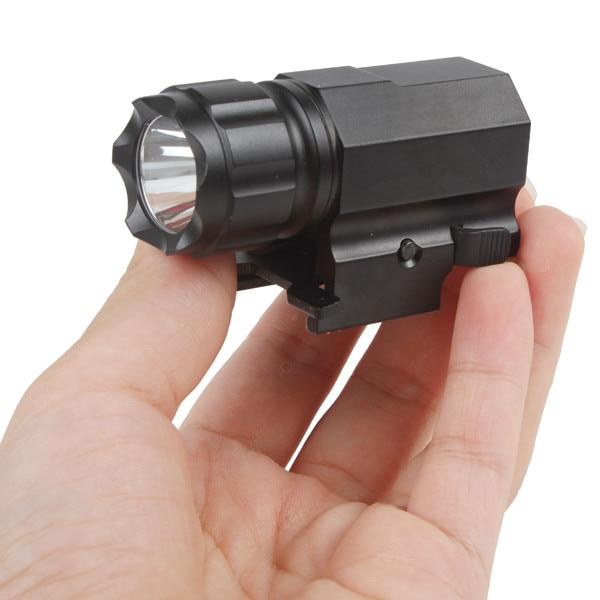 200 Lumens Tactical CREE LED Gun Weapon Flashlight Torch Pistol Handgun Torch Light Lamp with Mount