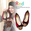 Plus Size Spring And Autumn Korean Round Toe Butterfly Flats With Leopard Large Size Flat Woman Shoes Female Casual Ladies