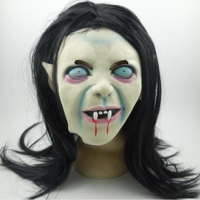Horror Mask Halloween Masker Spookhuis Movie Horror Grimas De Hele Cap Latex Masker Duivel Realistische Speelgoed N9501