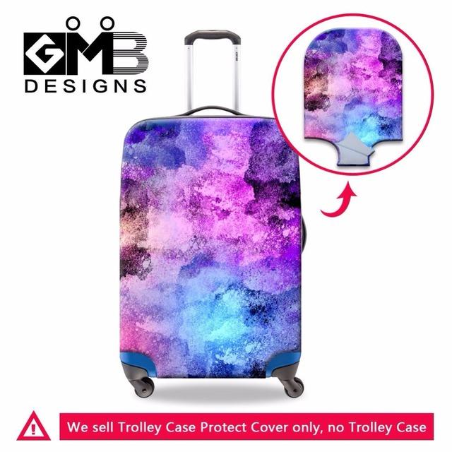 Dispalang colorido paisley elastic stretchable tampa à prova d' água bagagem mala capa protetora aplicar para 18-30 polegada caso tronco