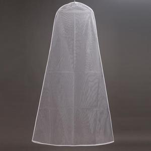 Image 4 - Wedding Dress Dust Bag Womens Clothing Storage Bag Display Display Case Transparent Double sided Mesh