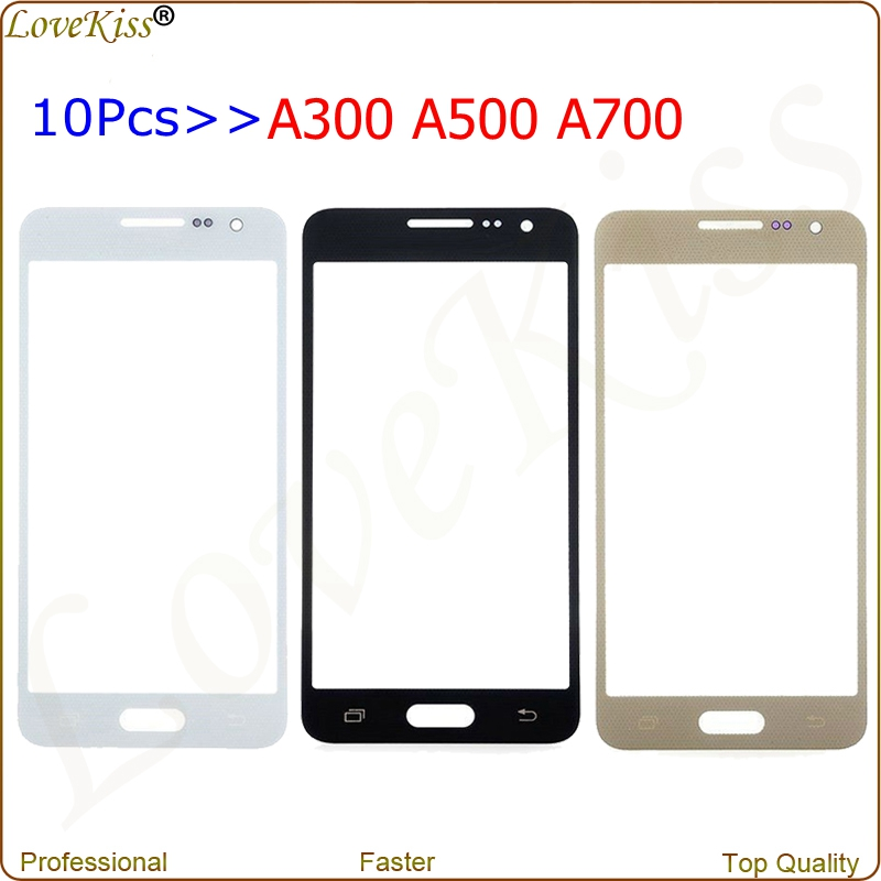10Pcs/Lot Front Touch Panel Screen Outer Glass For Samsung Galaxy <font><b>A3</b></font> A5 A7 2015 A300F A500F A700F Digitizer Lens Cover Display