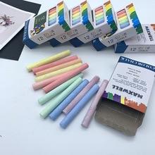 12 шт./упак. беспыльный Мел Ручка мелки для рисования на доске 6 цветов стационарный офисные школьные принадлежности, блокноты