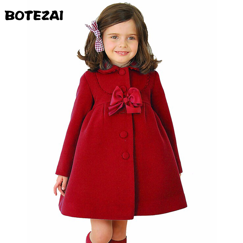 3c56998c4 ¡3 colores! 2017 abrigos para niñas abrigos de moda de lana para niños  chaqueta de invierno ropa de algodón abrigada