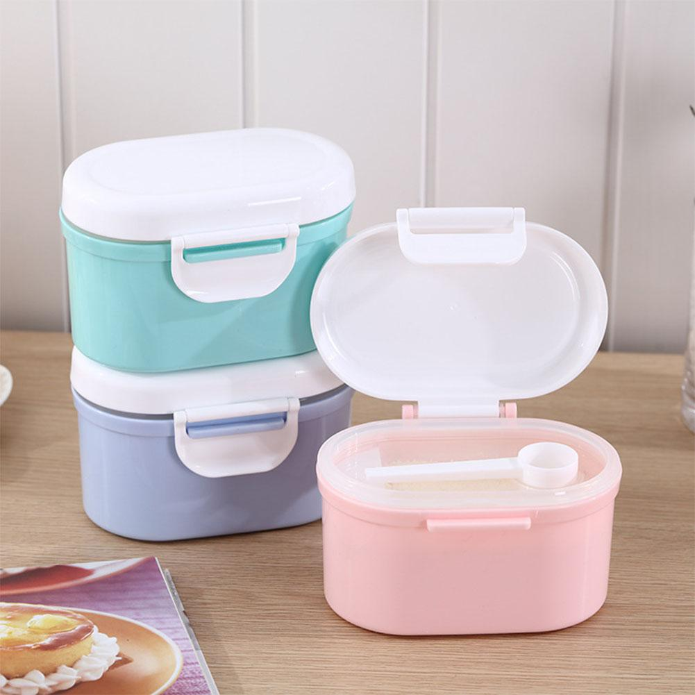 Food Boxes Mixture Milk Powder Container Airtight Food Storage Box Barrel Infants Children Baby Feeding Food Mix Green Container