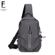 FENRUIEN 2019 New Chest Pack Men Casual Shoulder Crossbody Bag USB Charging Chest Bag Water Repellent Travel Messenger Bag Male все цены