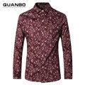 Высокое качество мужские рубашки 2017 Новая весна осень хлопок тонкий мужчины цветочные рубашки Res мужская рубашка с длинным рукавом случайные colthes 5xl