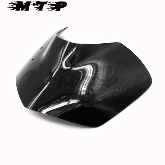 Pare-Brise Pare-Brise Moto Vent Protection /écran Bulle for BMW K1200R 05-08 BMW K1300R 09-15 Garde Coupe-Vent en Verre Avant Moto Color : Black