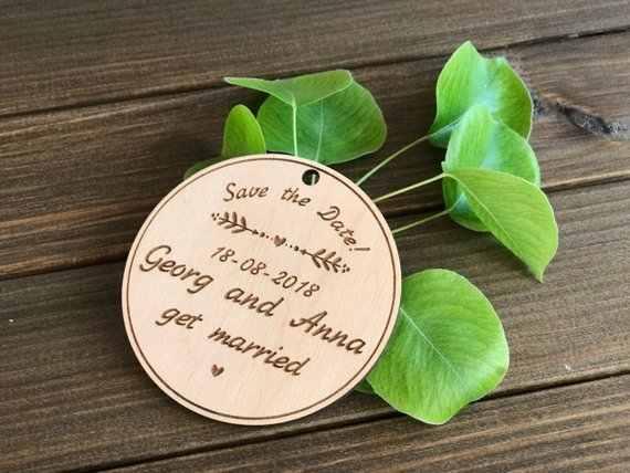 パーソナライズ素朴な保存日付マグネット、木製保存日付、ウェディングブライダルパーティーギフトを好意