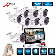P2P CCTV 8CH NVR 12 Inch LCD Screen 36 IR Waterproof Network 720P IP Wireless Camera Surveillance Security WIFI System 1TB HDD