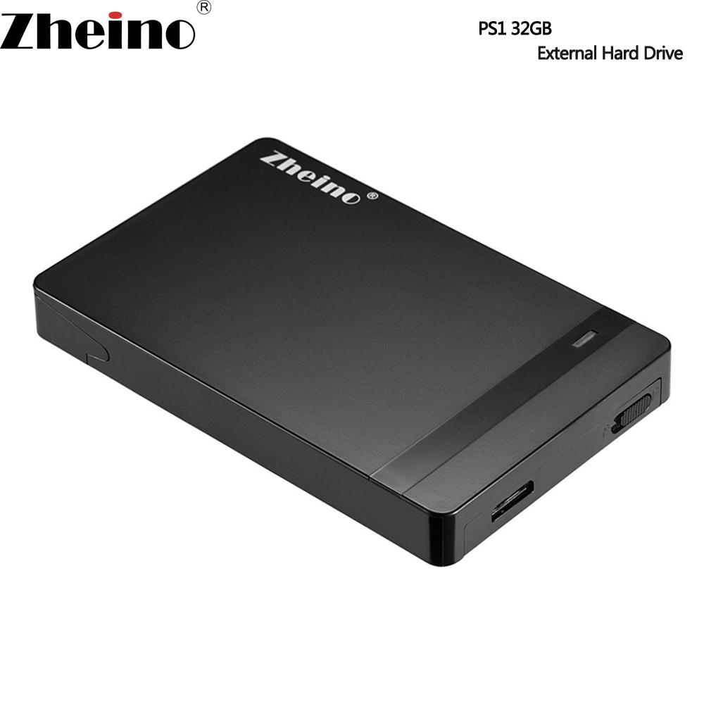 Zheino PS1 USB 3.0 32GB SSD Portable External Hard Drive High Speed 2.5 Inch Solid State Drive For PC laptop &USB Type A-Micro B