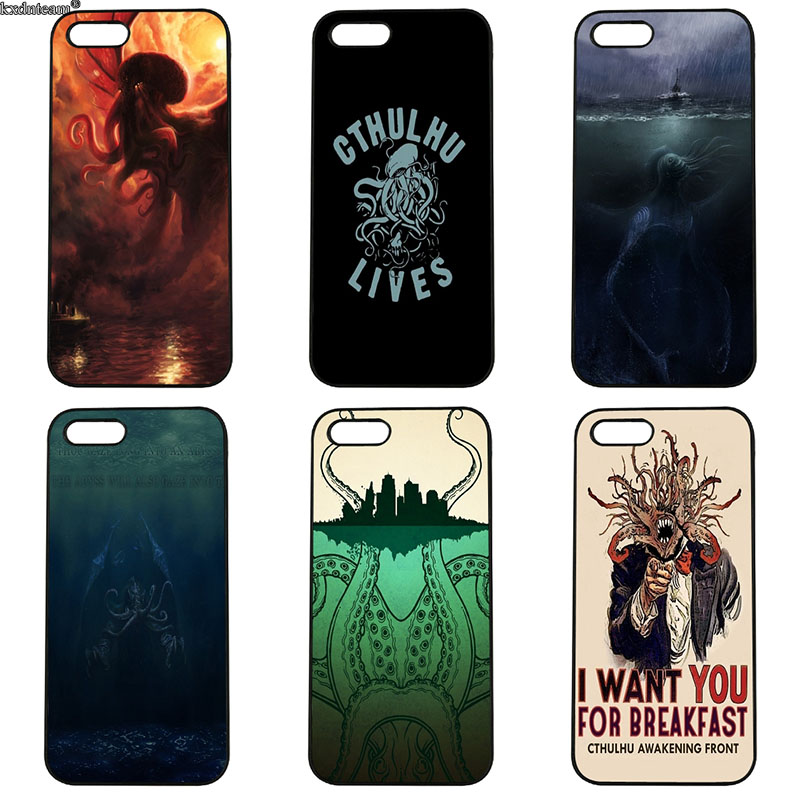 Fashion Sleeping God Cthulhu Mobile Phone Case Hard PC Cover for iphone 8 7 6 6S Plus X 5S 5C 5 SE 4 4S iPod Touch 4 5 6 Shell