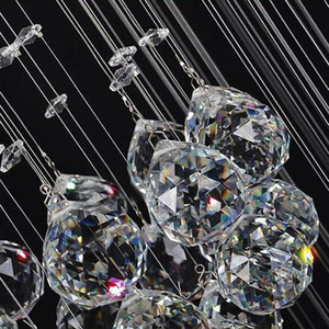 Image 5 - Long crystal chandelier lighting lustres lampadari modern stage chandelier LED light, clear crystal lighting fixtures