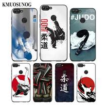 For Huawei P8 P9 P10 P20 P30 Pro Lite P Smart Plus Y6 Y9 2017 Black Soft Silicone Phone Case Japan Judo Style