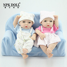Reborn Baby Soft Silica Girl Boy Toy intelligence Kid Toys Small New Born Baby Doll For Children Limited Collection Dolls