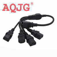 1 Pcs High Quality IEC 320 C14 Male Plug To 4XC13 Female Y Type Splitter Power