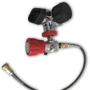 Image 5 - AC201 HPA Klep Gebruikt voor Carbon Fiber/Paintball/PCP Cilinder/Tank M18 * 1.5 4500PSI voor Luchtdruk & vul Station met Slang Acecare