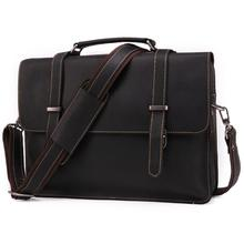 Brand 2019 Fashion Men Briefcase Genuine Leather Handbag Male 14 inch Laptop Bag Real Bussiness Shoulder For
