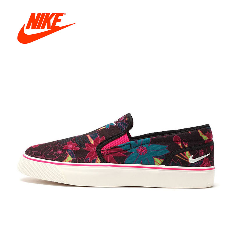 Original New Arrival Official NIKE Toki Slip Women's Light Comfortable and Breathable Skateboarding Shoes nike original new arrival mens skateboarding shoes breathable comfortable for men 902807 001