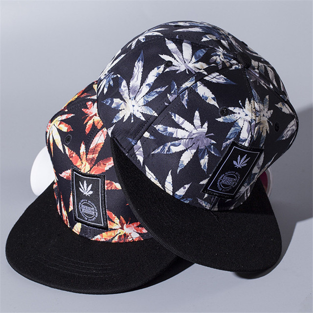 Weed Snapback Hats Hip Hop Baseball Cap I Gorras Bones LOVE Haters For Men  Women Bone ecab1e1302f