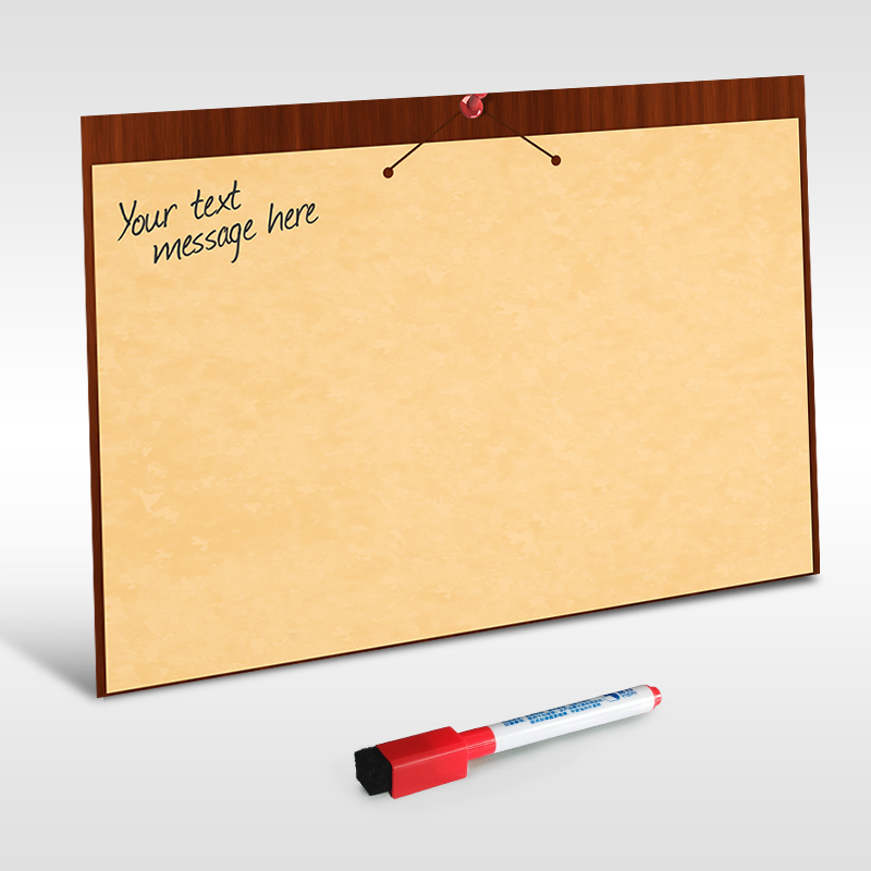YIBAI A4 Dry Wipe Magnetic Whiteboard Flexible Notice Memo Board - Kitchen Fridge Magnet Shopping List Family Notes