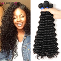 Malaysian Deep Wave 4 Bundles Malaysian Deep Wave Virgin Hair Huangcai Malaysian Hair 100% Human Hair Weaving